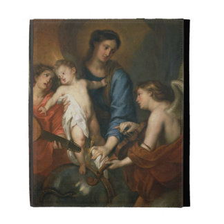Madonna and Child with angels iPad Folio Covers