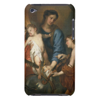 Madonna and Child with angels iPod Case-Mate Cases