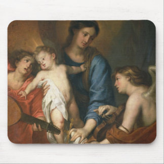 Madonna and Child with angels Mouse Pad