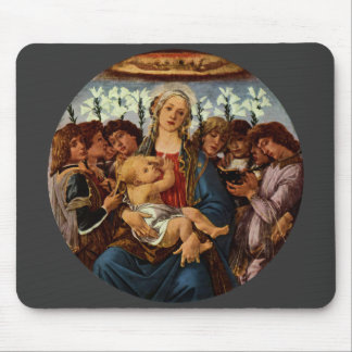 Madonna and Child with Eight Angels by Botticelli Mouse Pad