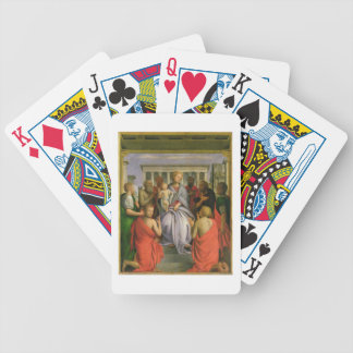 Madonna and Child with Eight Saints, 1520s (temper Bicycle Playing Cards