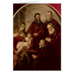 Madonna and child with four Statesmen Greeting Cards