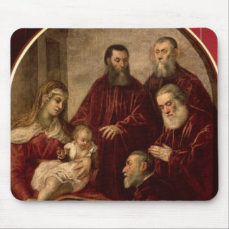 Madonna and child with four Statesmen Mouse Pad