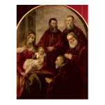 Madonna and child with four Statesmen Post Cards