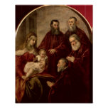Madonna and child with four Statesmen Poster