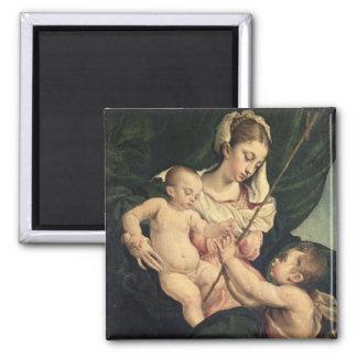 Madonna and Child with Saint John, c.1570 (oil on Fridge Magnets