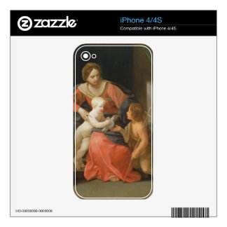 Madonna and Child with Saint John the Baptist iPhone 4 Decal