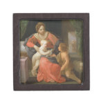 Madonna and Child with Saint John the Baptist Jewelry Box