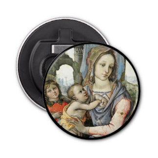 Madonna and Child with Saint Joseph and an Angel Bottle Opener