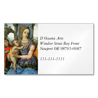 Madonna and Child with Saint Joseph and an Angel Business Card Magnet
