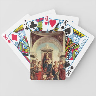 Madonna and Child with Saints Bicycle Playing Cards