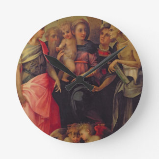 Madonna and Child with Saints, c.1518 (oil on pane Round Clock