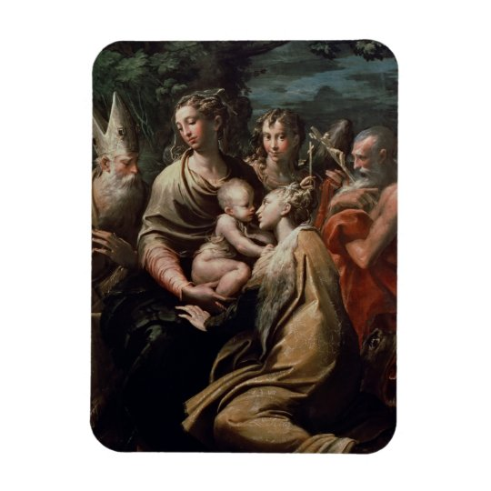 Madonna and Child with Saints, c.1529 (oil on pane Magnet