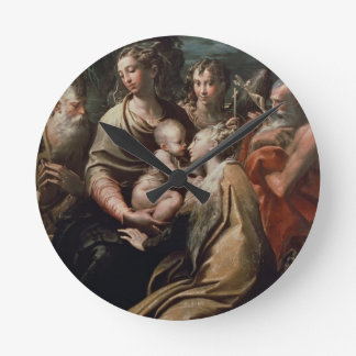 Madonna and Child with Saints, c.1529 (oil on pane Round Clock
