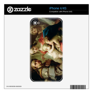 Madonna and Child with Saints John, Anna and Rocco Decals For The iPhone 4