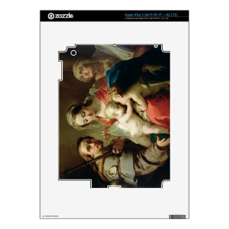 Madonna and Child with Saints John, Anna and Rocco iPad 3 Decal