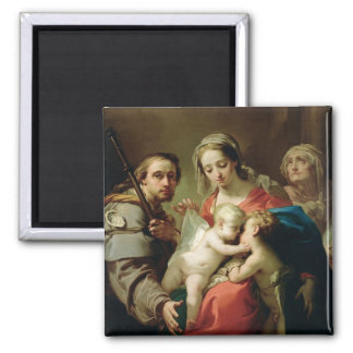Madonna and Child with Saints John, Anna and Rocco Refrigerator Magnets