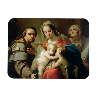 Madonna and Child with Saints John, Anna and Rocco Flexible Magnet