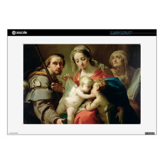Madonna and Child with Saints John, Anna and Rocco Skins For Laptops