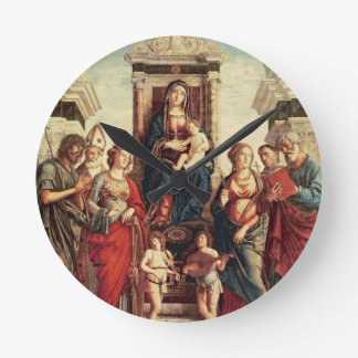 Madonna and Child with Saints Round Clock