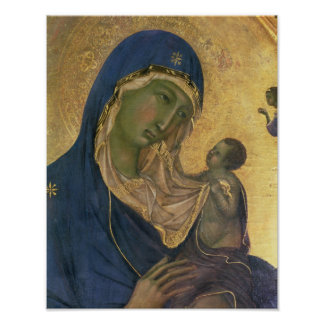Madonna and Child with SS. Dominic and Aurea Poster