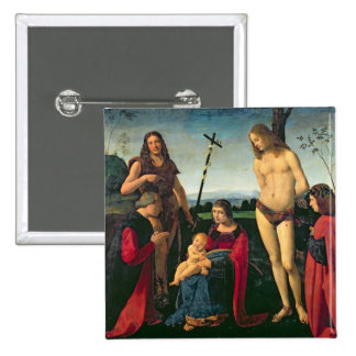 Madonna and Child with SS. John the Baptist and Se Buttons