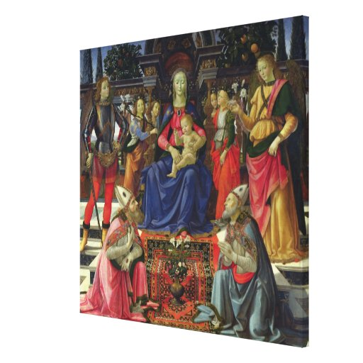 Madonna and Child with SS. Justus, Zenobius and th Canvas Print