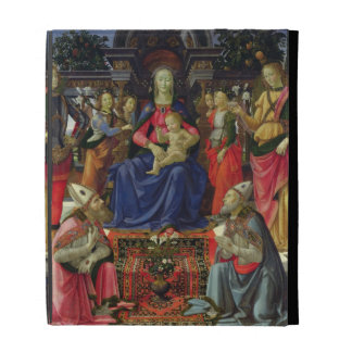 Madonna and Child with SS. Justus, Zenobius and th iPad Folio Cases