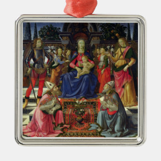 Madonna and Child with SS. Justus, Zenobius and th Metal Ornament