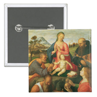 Madonna and Child with SS. Peter, Jerome and Mary Button