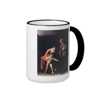 'Madonna and Child with St. Anne' Ringer Coffee Mug