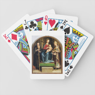 Madonna and Child with St. Anthony Abbot and St. N Bicycle Playing Cards
