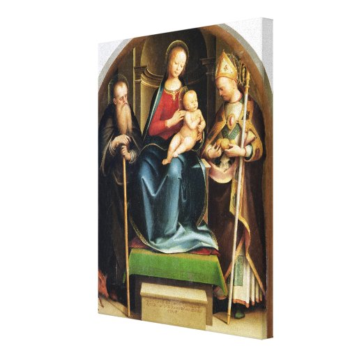 Madonna and Child with St. Anthony Abbot and St. N Canvas Print
