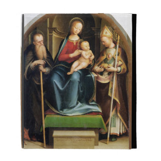 Madonna and Child with St. Anthony Abbot and St. N iPad Folio Cover