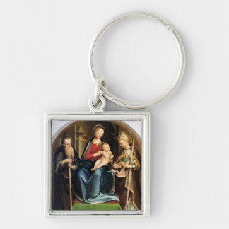 Madonna and Child with St. Anthony Abbot and St. N Key Chains