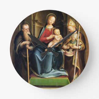 Madonna and Child with St. Anthony Abbot and St. N Round Clock