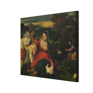 Madonna and Child with St. Catherine  c. 1530 Canvas Print