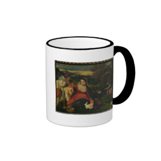 Madonna and Child with St. Catherine  c. 1530 Ringer Coffee Mug