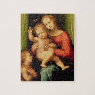 Madonna and Child with St. John Jigsaw Puzzle
