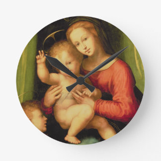 Madonna and Child with St. John Round Clock