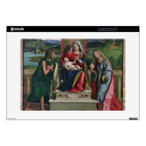 """Madonna and Child with St. John the Baptist and Ma 15"""" Laptop Skin"""
