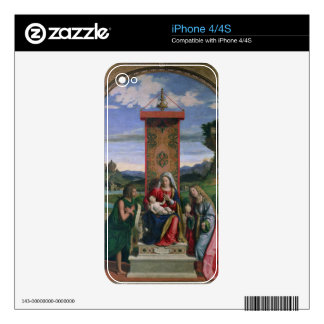 Madonna and Child with St. John the Baptist and Ma iPhone 4S Decal