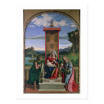 Madonna and Child with St. John the Baptist and Ma Postcard