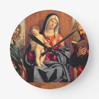 Madonna and Child with St. John the Baptist and St Round Clock