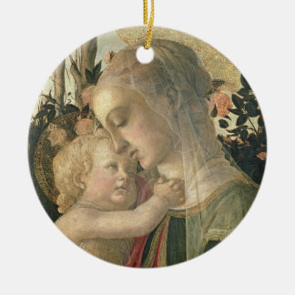Madonna and Child with St. John the Baptist, detai Ceramic Ornament