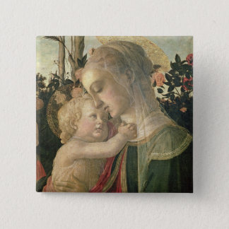 Madonna and Child with St. John the Baptist, detai Pinback Button