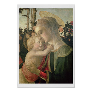 Madonna and Child with St. John the Baptist, detai Posters