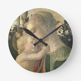 Madonna and Child with St. John the Baptist, detai Round Clock
