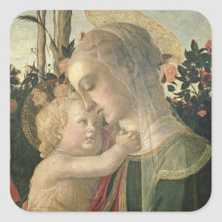 Madonna and Child with St. John the Baptist, detai Square Sticker