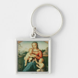 Madonna and Child with St. John the Baptist Keychain